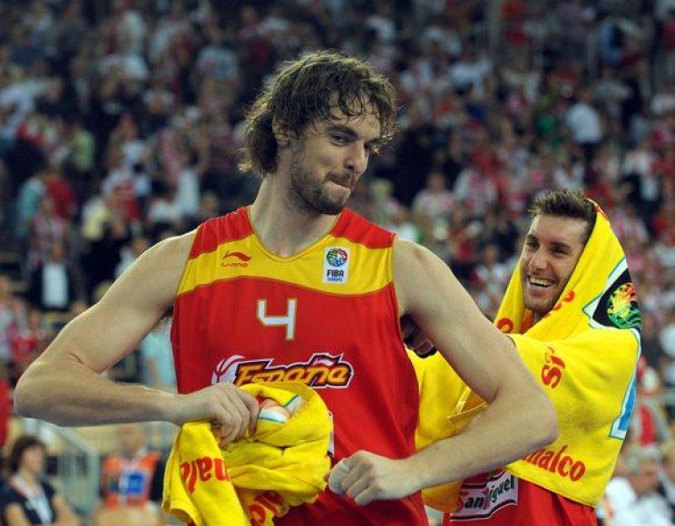 P.Gasolis sužaidė rezultatyviausias rungtynes Lenkijoje ir padėjo ispanams iškopti į pusfinalį