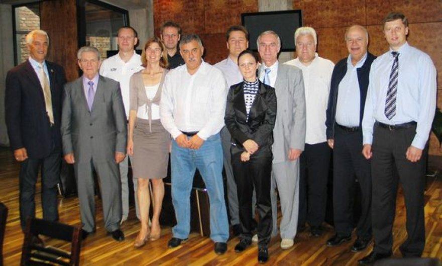 2009 ir 2011 metų Europos krepšinio čempionato vadovų susitikimas Katovicuose.