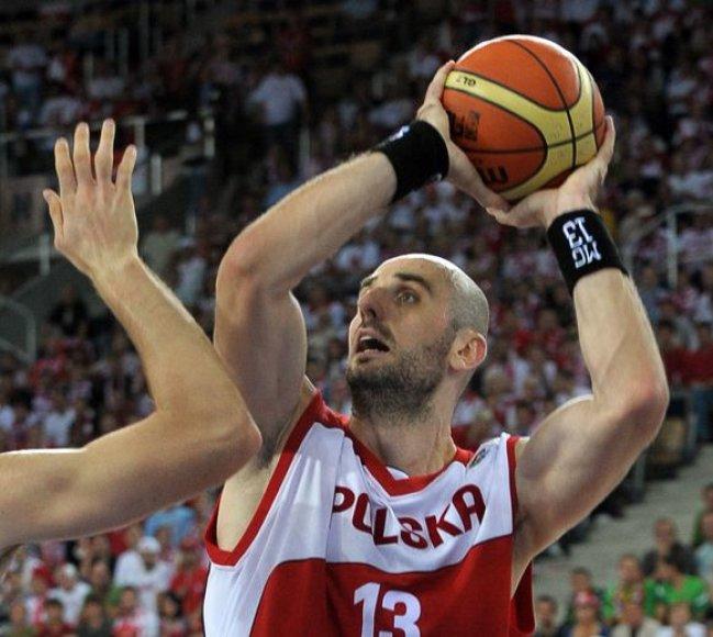 Marcinas Gortatas buvo ryškiausias Lenkijos rinktinės žaidės Europos čempionate