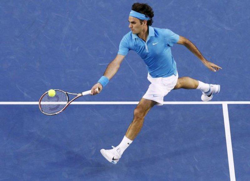R.Federeris penktą kartą prasibrovė į Melburno turnyro finalą