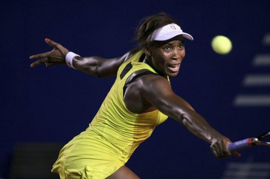 Venus Williams ketvirtfinalyje įveikė ispanę Laura Pous Tio