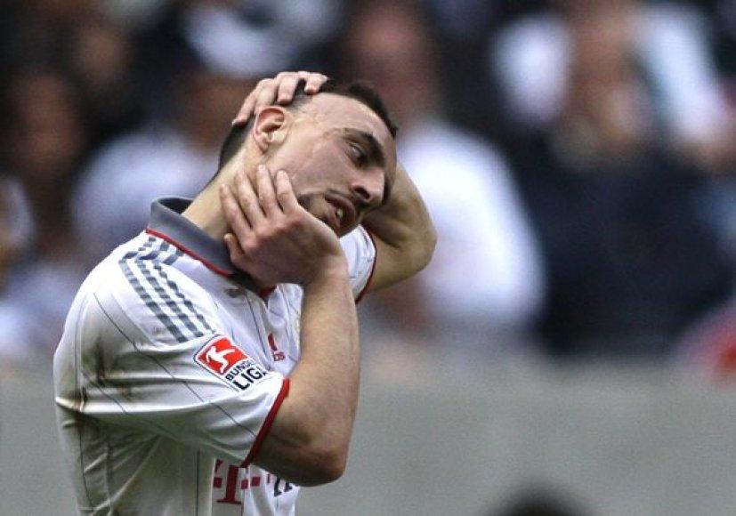 F.Ribery Čempionų lygos finale žaisti negalės