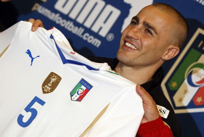 F.Cannavaro ateinantis pasaulio čempionatas bus paskutinis