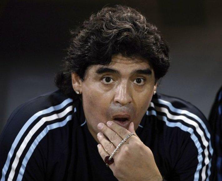 D.Maradona paskelbė preliminarų Argentinės rinktinės futbolininkų sąrašą