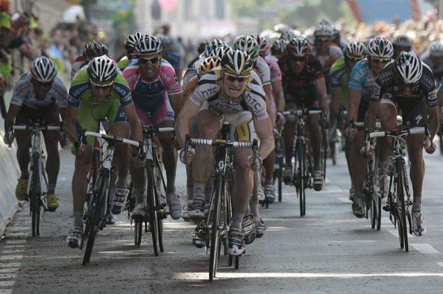 18-o etapo lenktynių akimirka