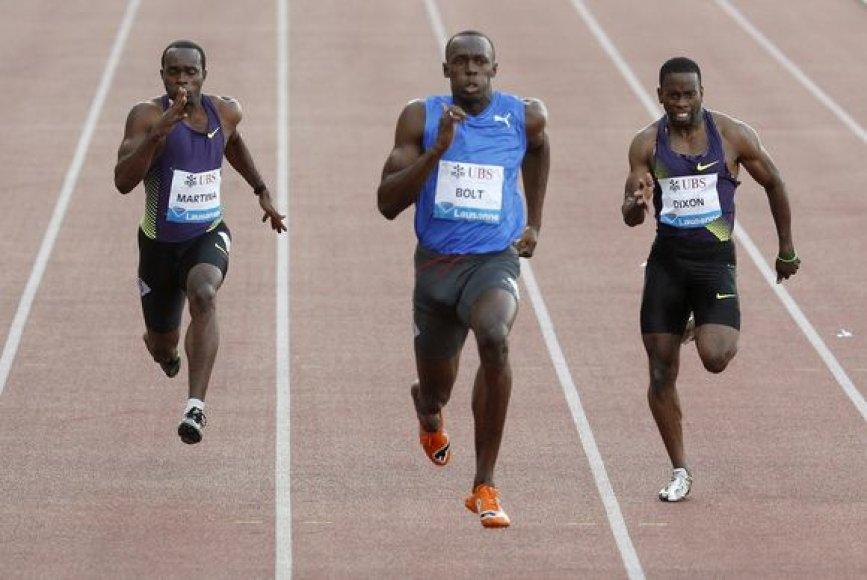 U.Boltas pakartojo geriausią šio sezono rezultatą