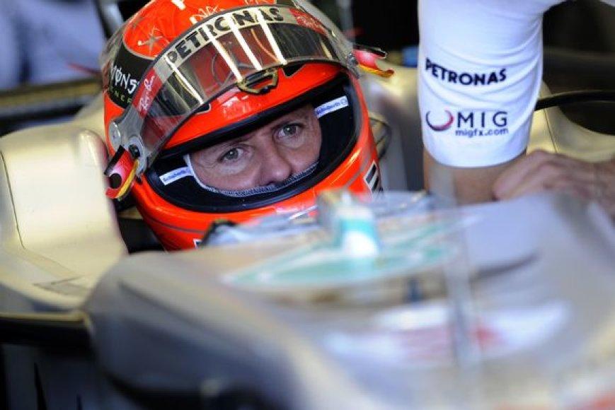 M.Schumacheris apie titulą šįmet nebegalvoja