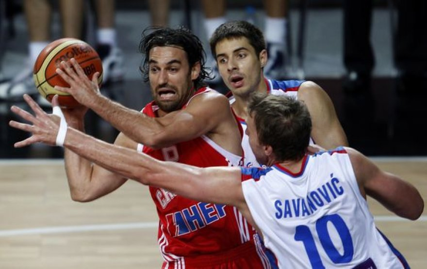 Kroatijos ir Serbijos rinktinių dvikovos akimirka