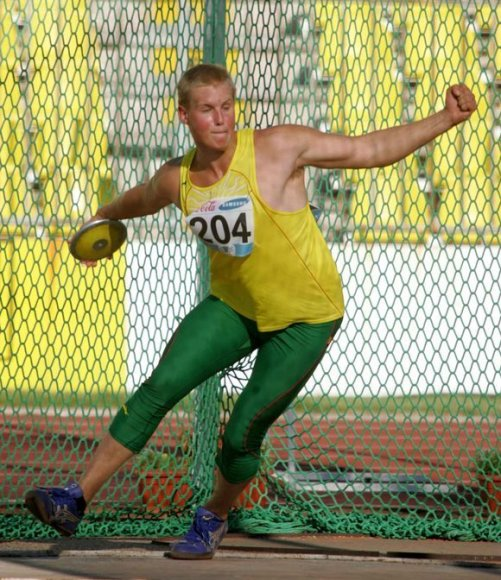 Andrius Gudžius 2007 metais varžybose Belgrade
