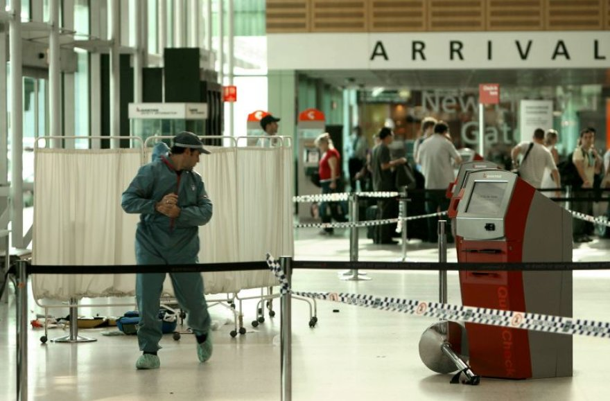 Egzekucija įvyko Sidnėjaus oro uoste.