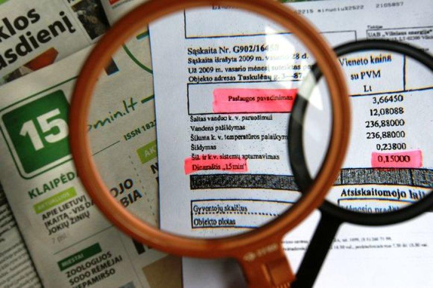Mokestis už laikraštį bus įtrauktas į komunalinių mokesčių eilutę.