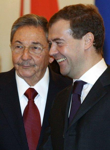 Medvedevo ir Castro susitikimas
