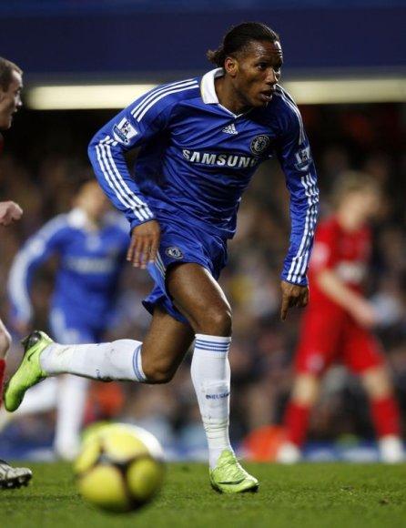 "Londono ""Chelsea"" puolėjas Didier Drogba"