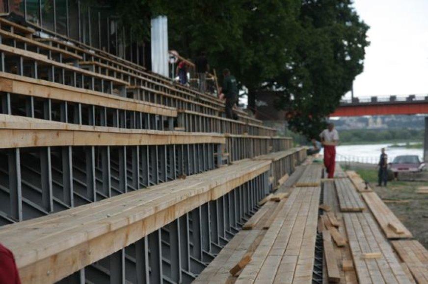"""Pernai įrengtame vasaros amfiteatre vykęs festivalis """"Daugirdas gyvai"""" planuojamas ir šiemet."""