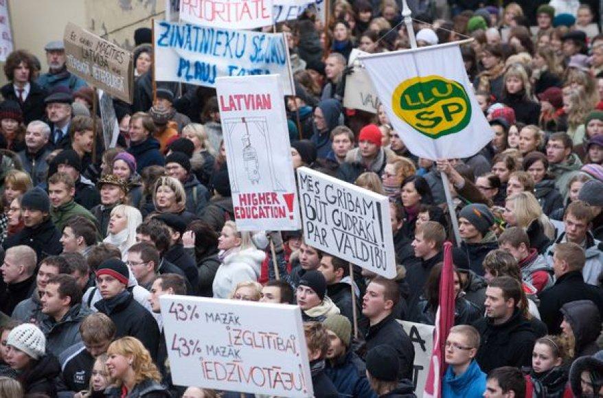 Latvių studentija sujudo.
