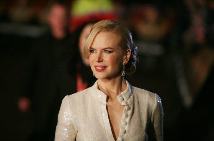 Nicole Kidman – įspūdinga aktorė, tačiau pakankamai blanki moteris ant raudonojo kilimo.
