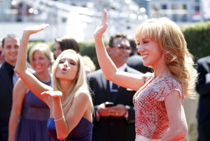 Aktorės Kathy Griffin ir Kristin Chenoweth