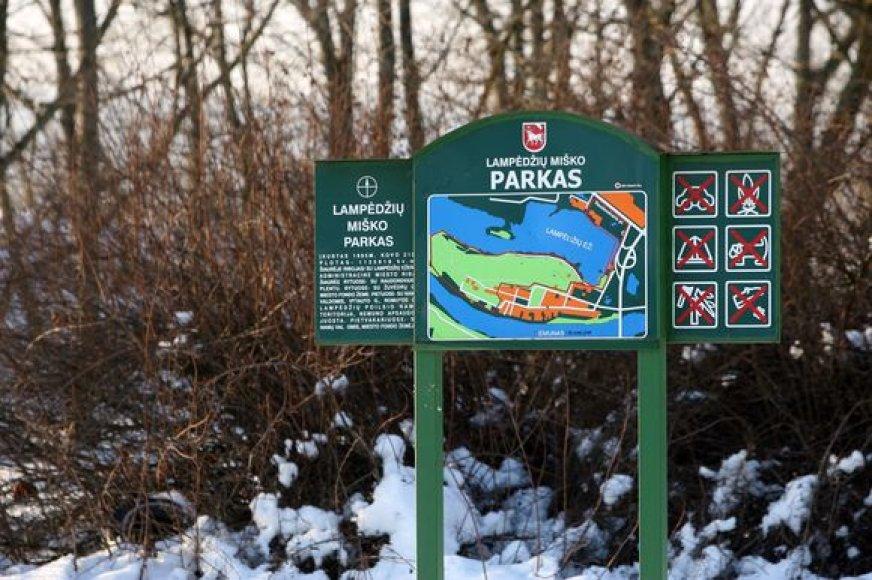 Įgyvendinus projektą, kuris preliminariai kainuotų 4 mln. litų, Lampėdžių ežeras žiemą galėtų virsti puikia čiuožykla.
