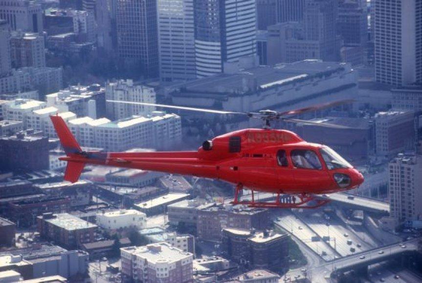 """Verslininkas įsigijo tokį kaip šis """"Eurocopter AS 355 NP"""" sraigtasparnį."""