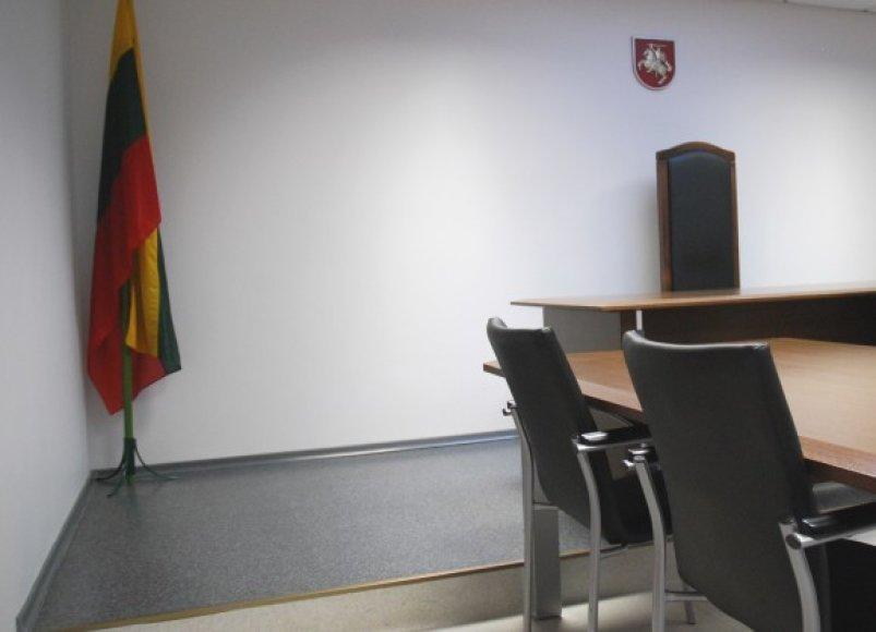 byla, teismas, teismo salė, posėdžių salė teisme,