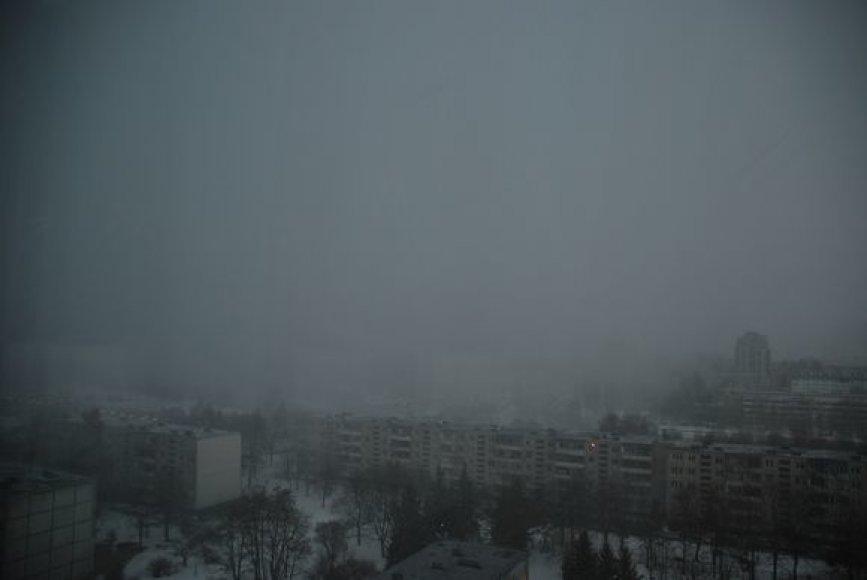 Pirmadienio vakarą Vilniuje žaibiškai pasikeitę orai