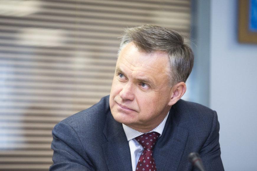 Irmanto Gelūno / 15min nuotr./Lietuvos pramonininkų konfederacijos prezidentas Robertas Dargis