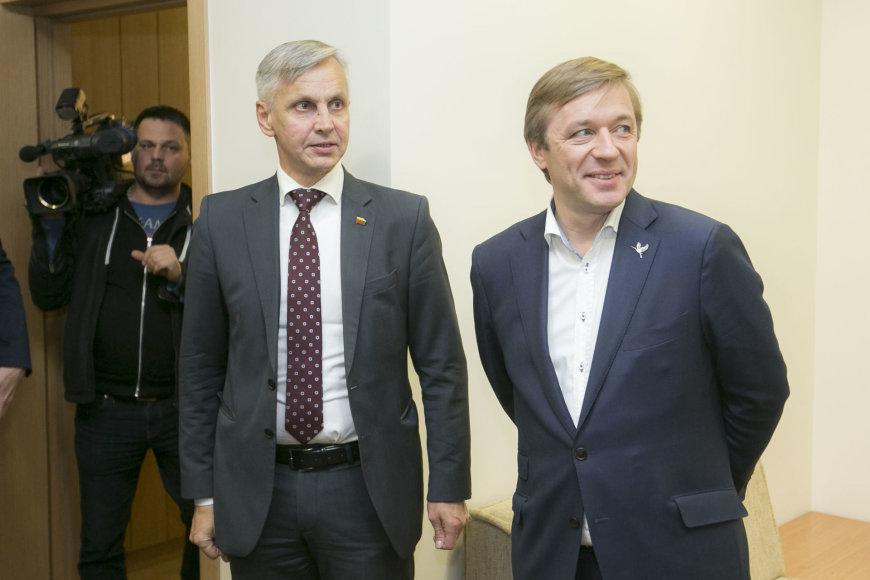 Irmanto Gelūno / 15min nuotr./Povilas Urbšys ir Ramūnas Karbauskis