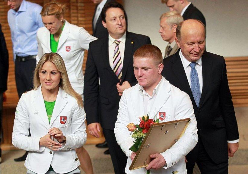Andrius Kubilius pasveikino aukštas vietas Londono olimpiadoje iškovojusius sportininkus.