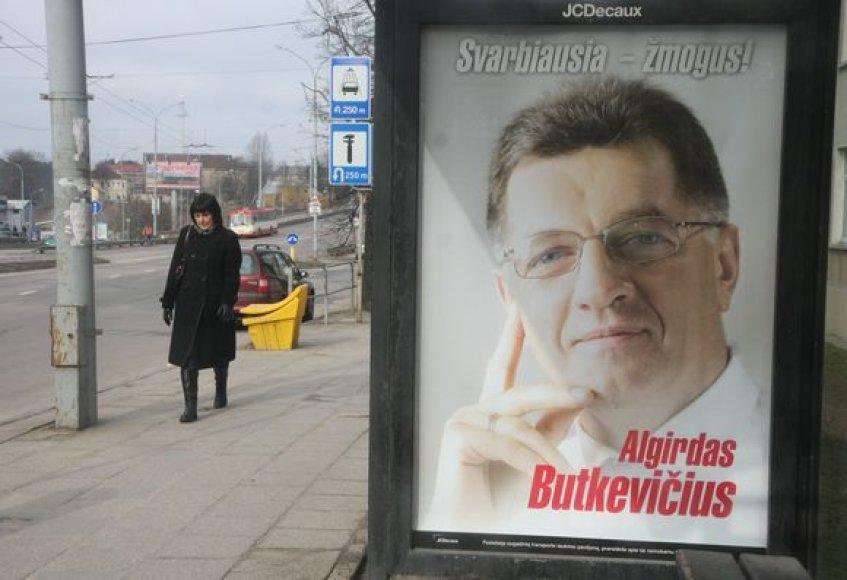 Algirdo Butkevičaus reklaminis plakatas