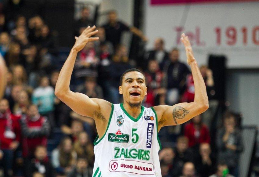 """Kaunbo """"Žalgirio"""" krepšininkas Ibrahimas Jaaberas"""