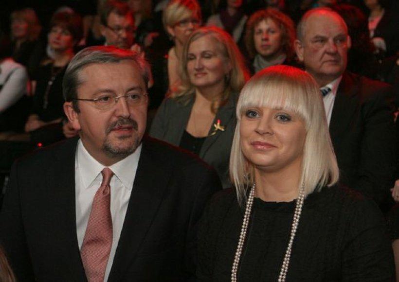 Audrius Siaurusevičius su žmona