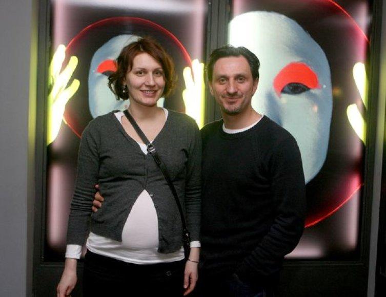 Dainius Kazlauskas su žmona Indre