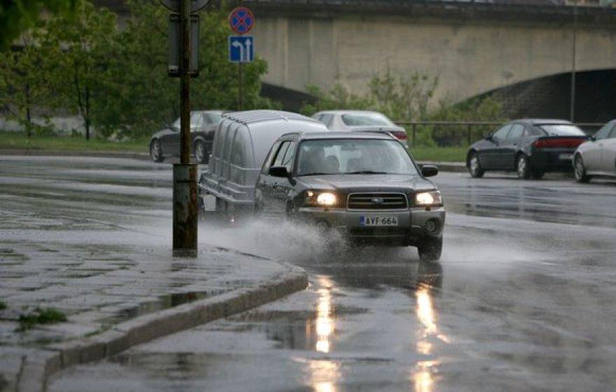 Trumpalaikis lietus Vilniuje