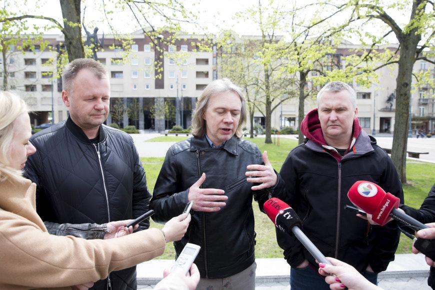Irmanto Gelūno / 15min nuotr./Festivalių asociacijos ir kultūros atstovų spaudos konferencija