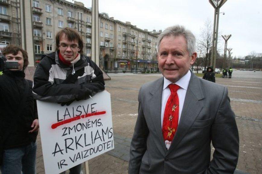 Algirdas Sysas stebėjo protesto akciją