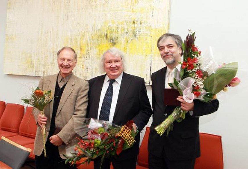 Jonas Romualdas Rakauskas, Juozas Domarkas ir Petras Geniušas