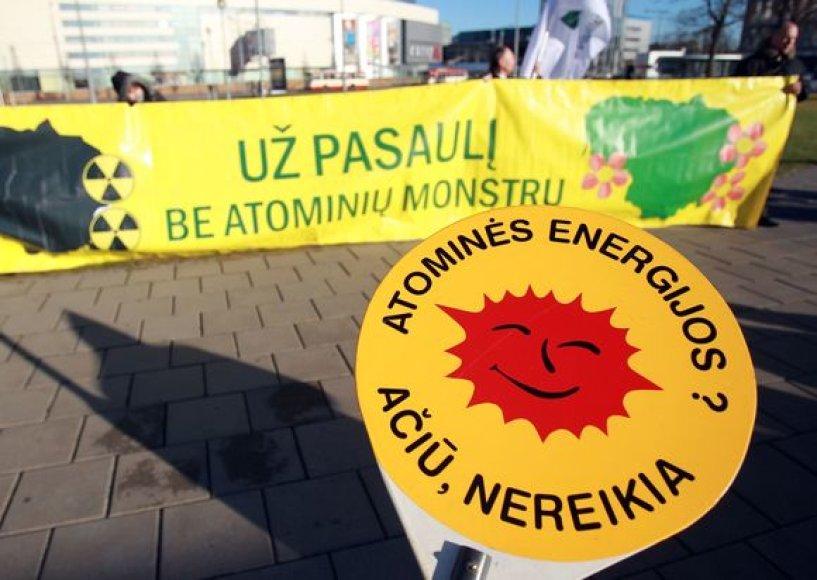 Protestavo prieš Visagino atominės elektrinės statybą.