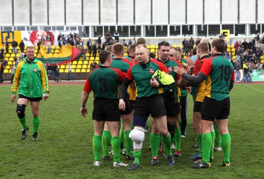 Lietuvos regbio rinktinės rungtynės su ukrainiečiais