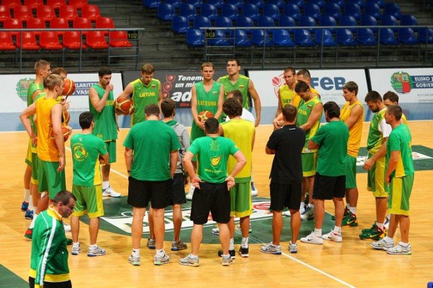 Lietuvos krepšininkai tęsia pasirengimą Ispanijoje