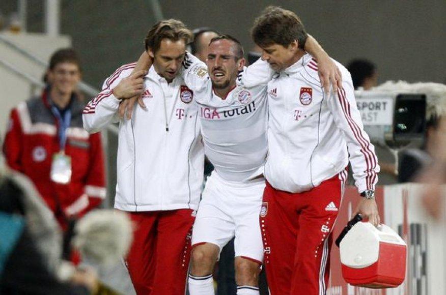F.Ribery pasirodymas rungtynėse ir trauma