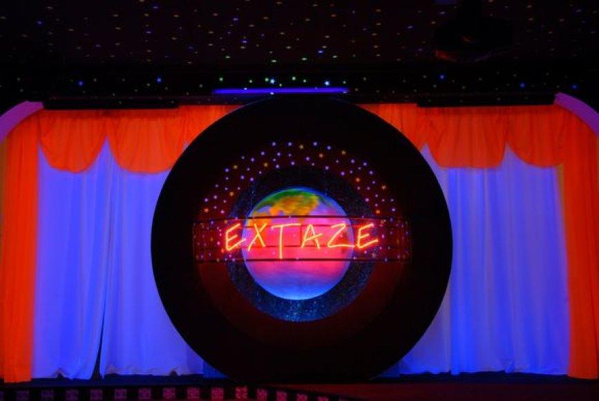 """Iki 400 žmonių talpinantis klubas """"Extaze"""" lankytojus žada vilioti kokybiška šokių muzika, renginių įvairove bei išskirtiniu interjeru."""