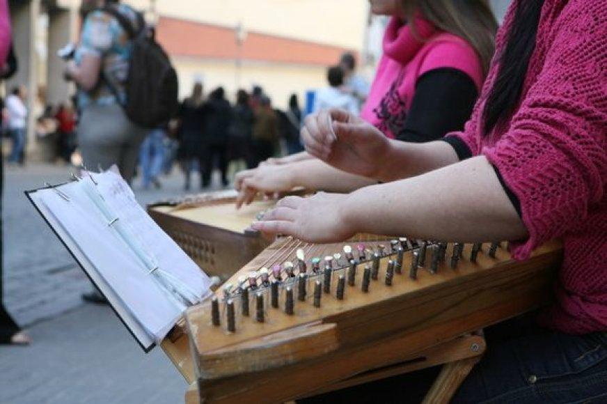 Gatvės muzikos dienos akimirka