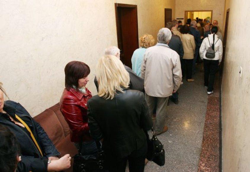 A.Kupčinsko teigimu, pratęsus išankstinio balsavimo laiką, nesusidarytų spūstys prie balsadėžių.