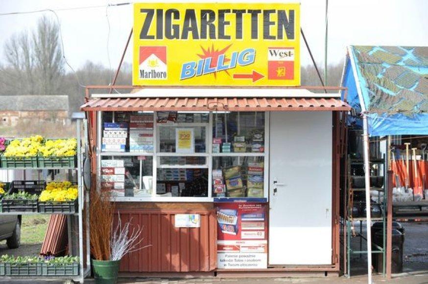 Cigarečių kioskas Lenkijoje