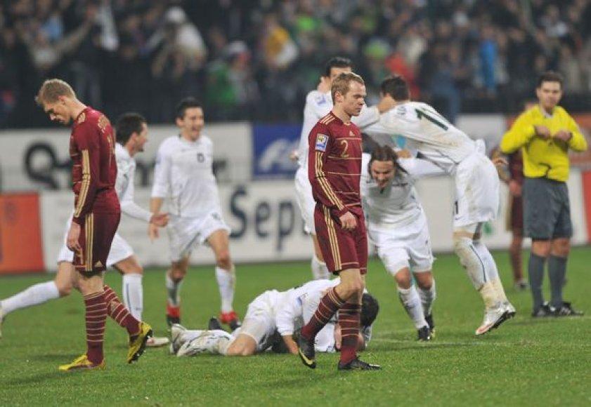 Rusija pralaimėjo Slovėnijai