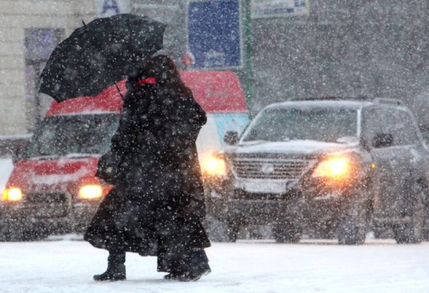 Sniegas Maskvoje
