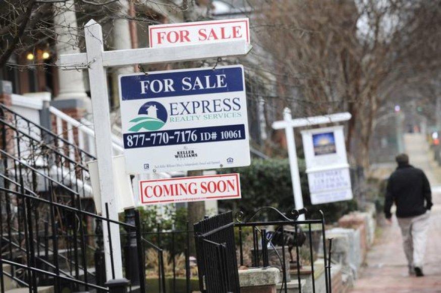 JAV krizė kilo nekilnojamojo turto sektoriuje, ir bijoma, kad čia vėl gali kilti problemų