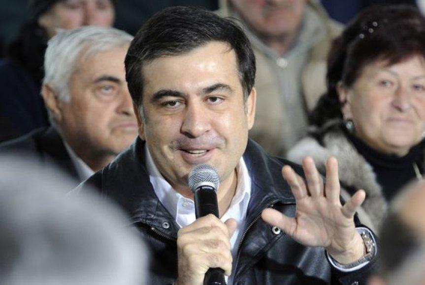 M.Saakašvilis susitikime su žmonėmis