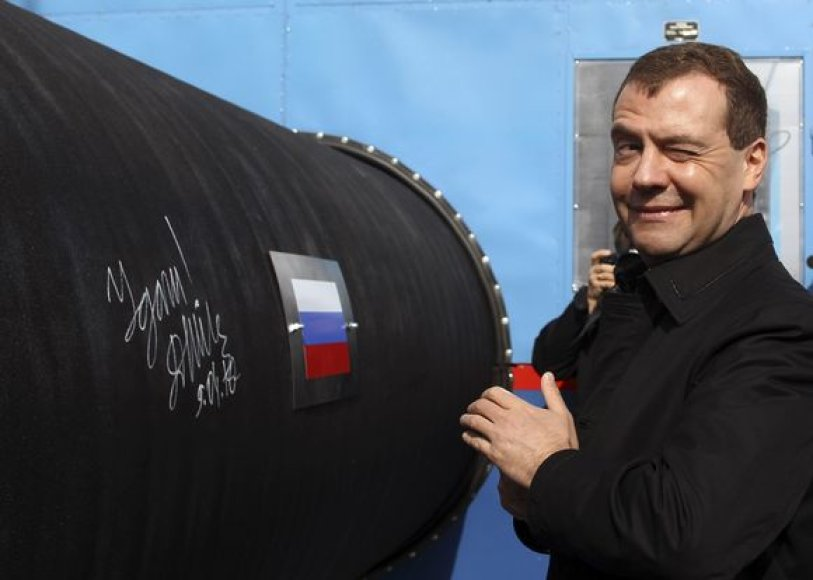 "D.Medvedevas per ""Nord Stream"" atidarymą"