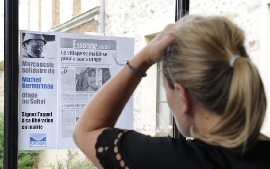 Laikraštis su žinia apie įkaito nužudymą